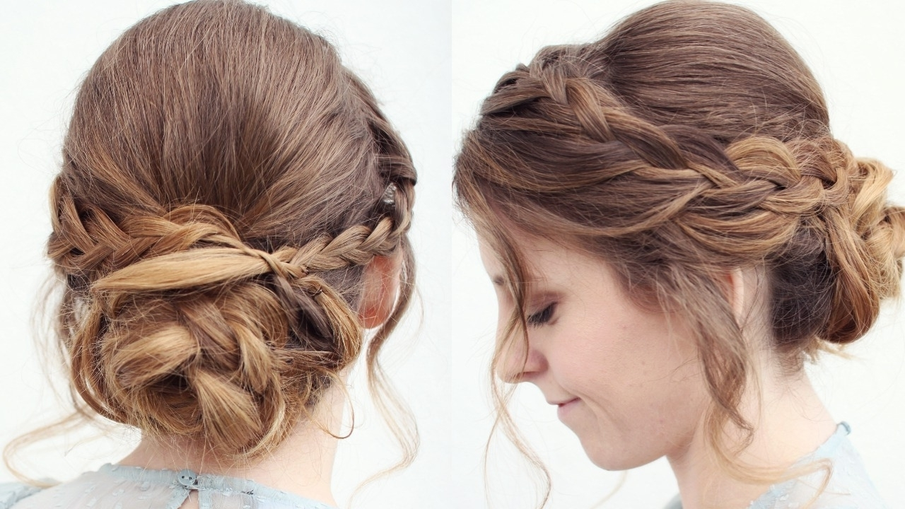 Romantic Braided Updo/ Upstyle | Updo Hairstyles | Braidsandstyles12 For Updo Hairstyles (View 6 of 15)