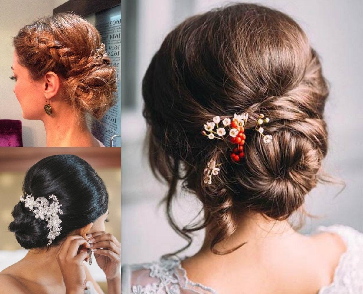 Romantic Low Bun Wedding Hairstyles 2017 | Hairdrome With Low Bun Updo Hairstyles For Wedding (View 5 of 15)