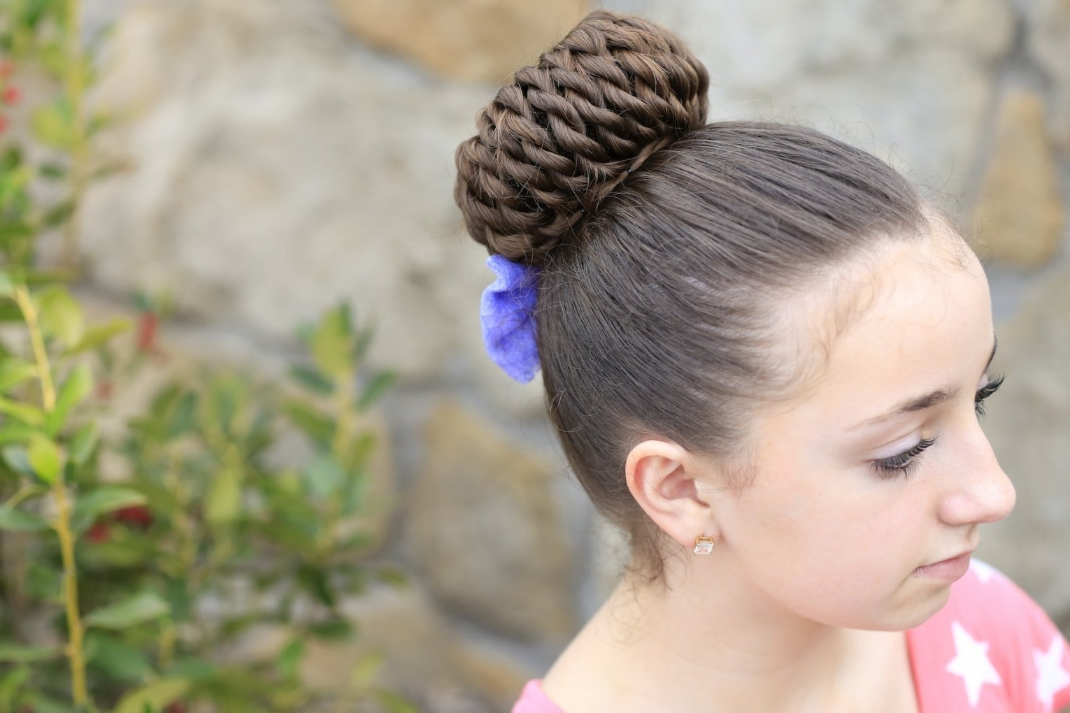 Rope Twist Pinwheel Bun | Prom Hairstyles | Cute Girls Hairstyles Throughout Cute Bun Updo Hairstyles (View 13 of 15)