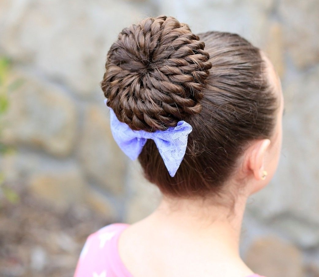 Rope Twist Pinwheel Bun Tutorial & Video / Cute Girls Hairstyles Intended For Cute Girls Updo Hairstyles (View 9 of 15)