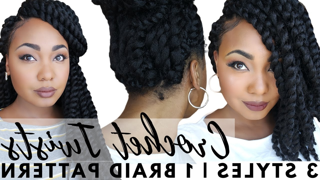 Senegalese Crochet Twists: Easy Braid Pattern For Natural With Regard To Crochet Braid Pattern For Updo Hairstyles (View 14 of 15)