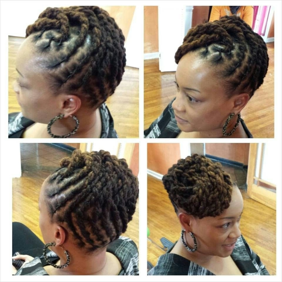 She Used Jbco On A Twa Twist Out, But The Style She Got Out Of It Throughout Dreadlock Updo Hairstyles (View 2 of 15)