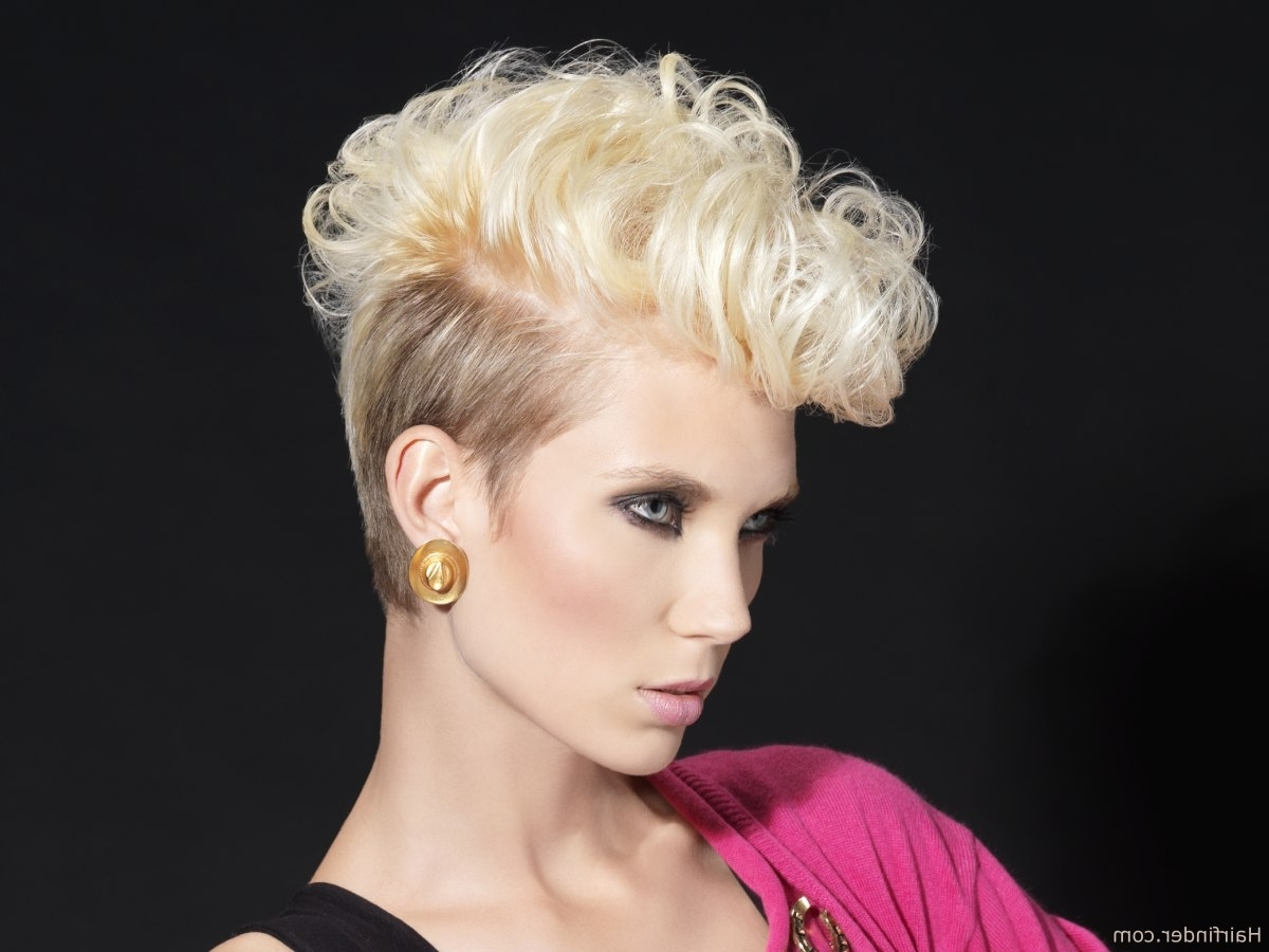 Short 80S Retro Hairstyle With Tapered Sides And Back Intended For 80S Hair Updo Hairstyles (View 14 of 15)