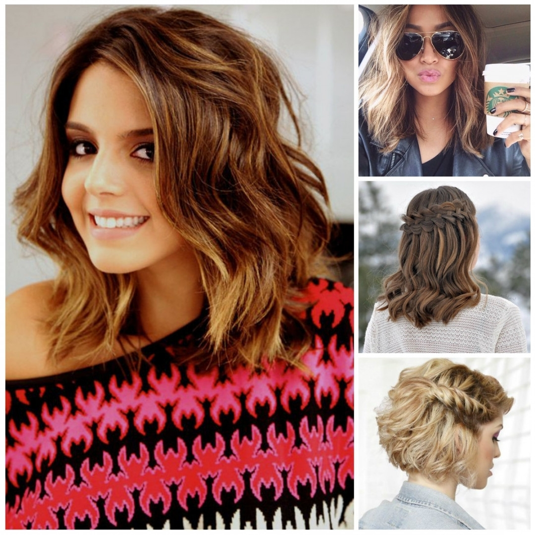 Short Curly Hairstyle Curly Hairstyles For Medium Length Hair Intended For Updos For Medium Length Curly Hair (View 4 of 15)