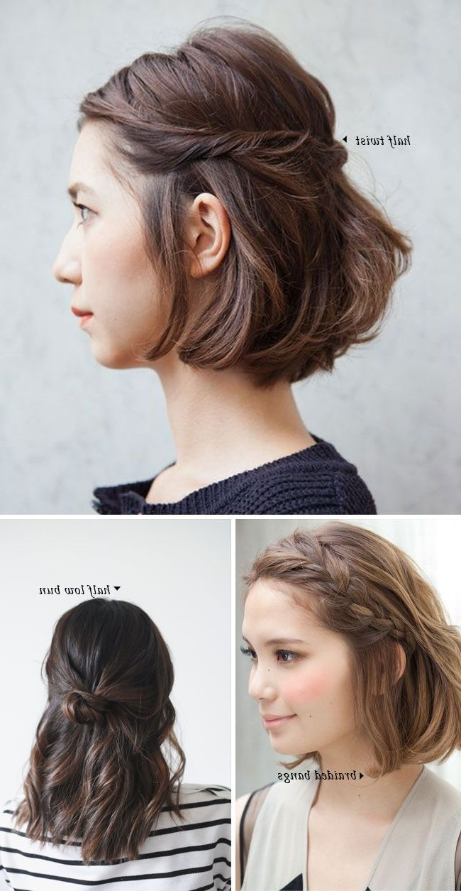 Short Hair Do's / 10 Quick And Easy Styles | Short Hair, Shorts And Easy With Regard To Super Easy Updos For Short Hair (View 14 of 15)