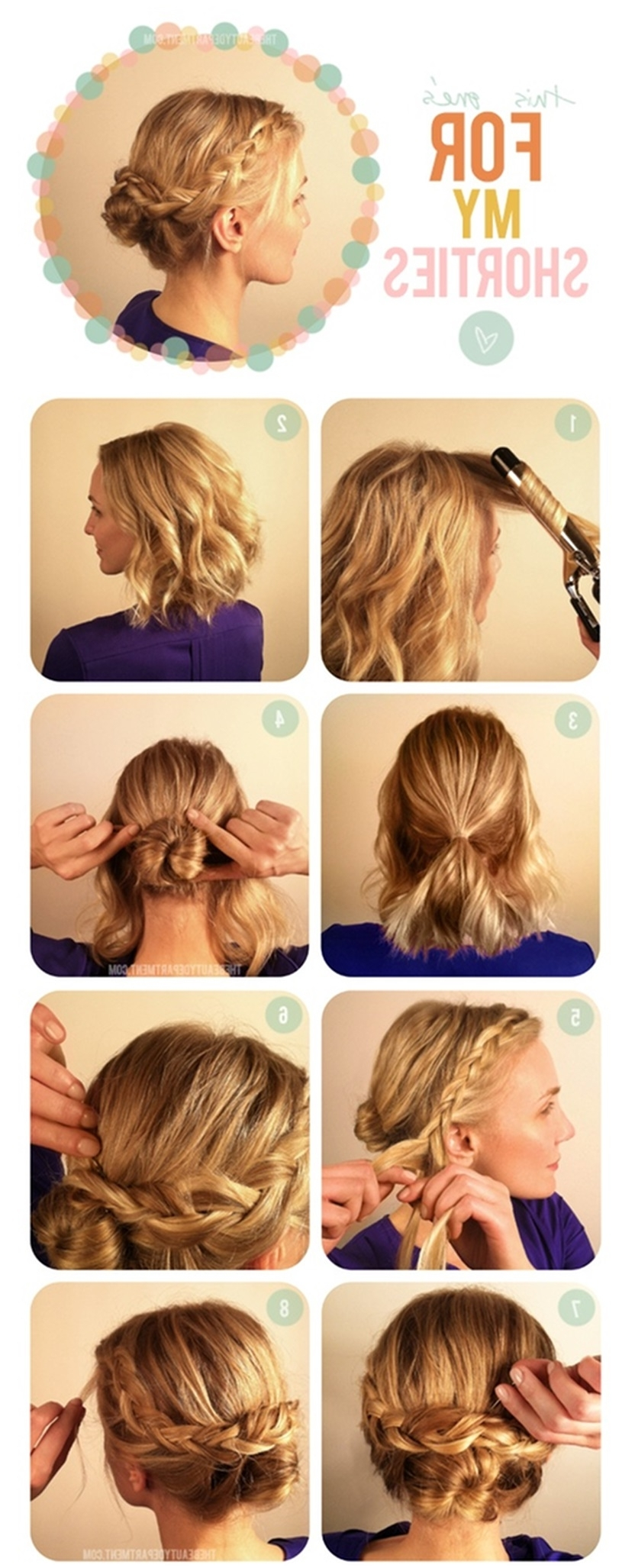 15 Collection of Easy Updo Hairstyles For Medium Hair To Do Yourself