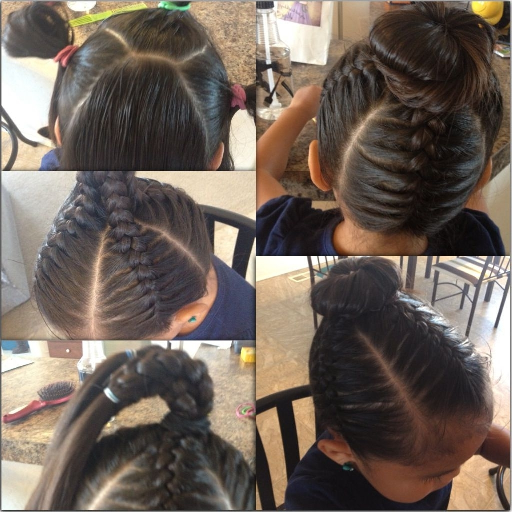 Short On Time? Nothing Is Cuter Than This Little Girl Hair Style In Braided Updo Hairstyles With Extensions (View 15 of 15)