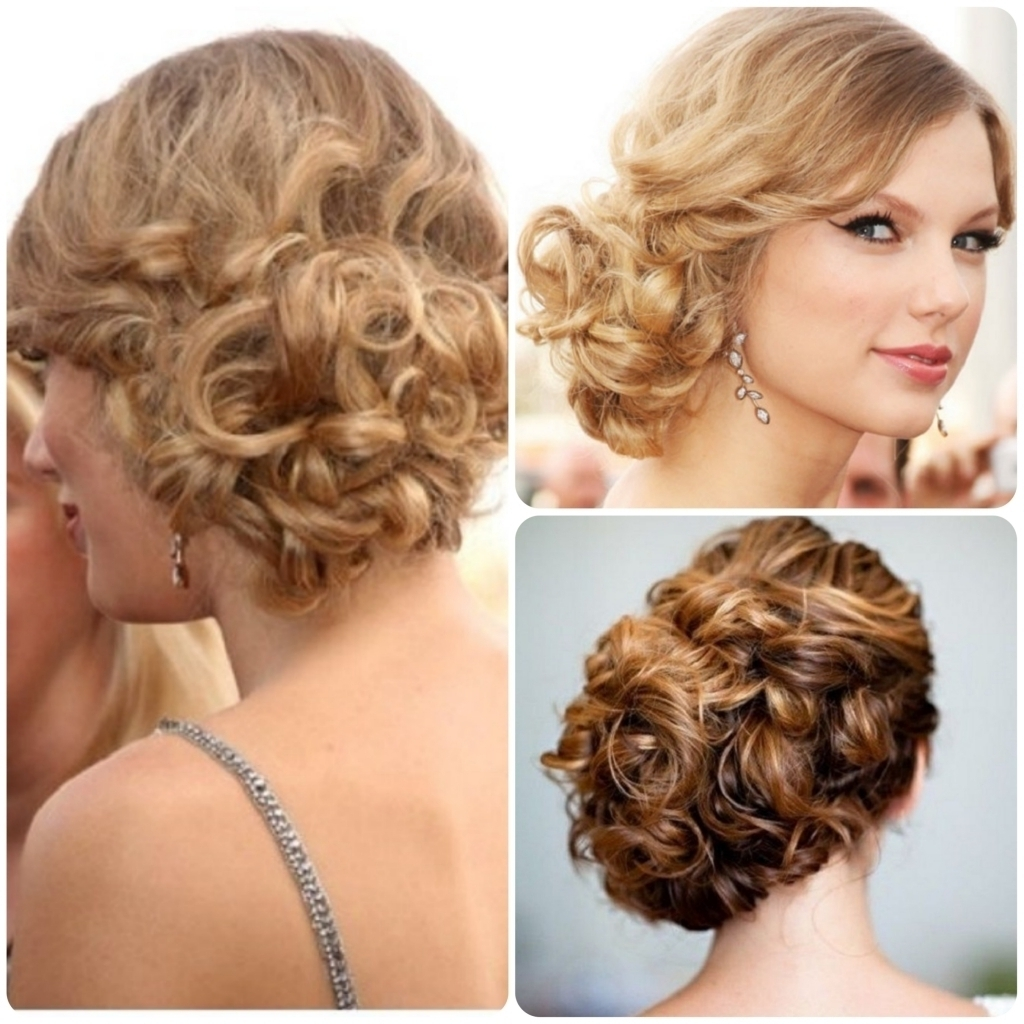 Side Bun Updo Hairstyles Low Curly Bun Updo Updo Side Bun Hairstyles Within Side Bun Updo Hairstyles (View 7 of 15)