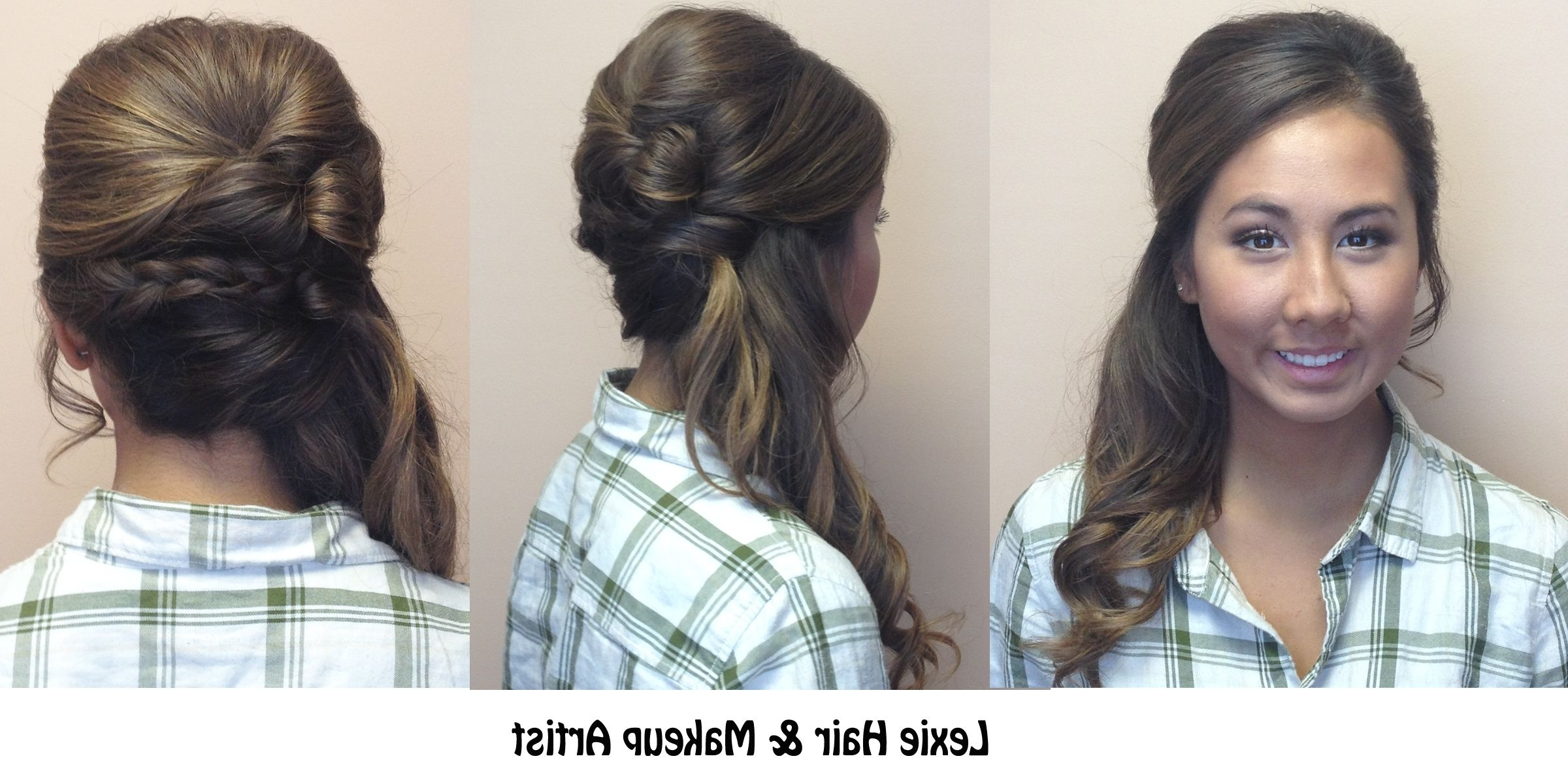 Side Ponytail With Braid And Volume: Wedding, Prom, And Special Pertaining To Long Hair Side Ponytail Updo Hairstyles (View 12 of 15)