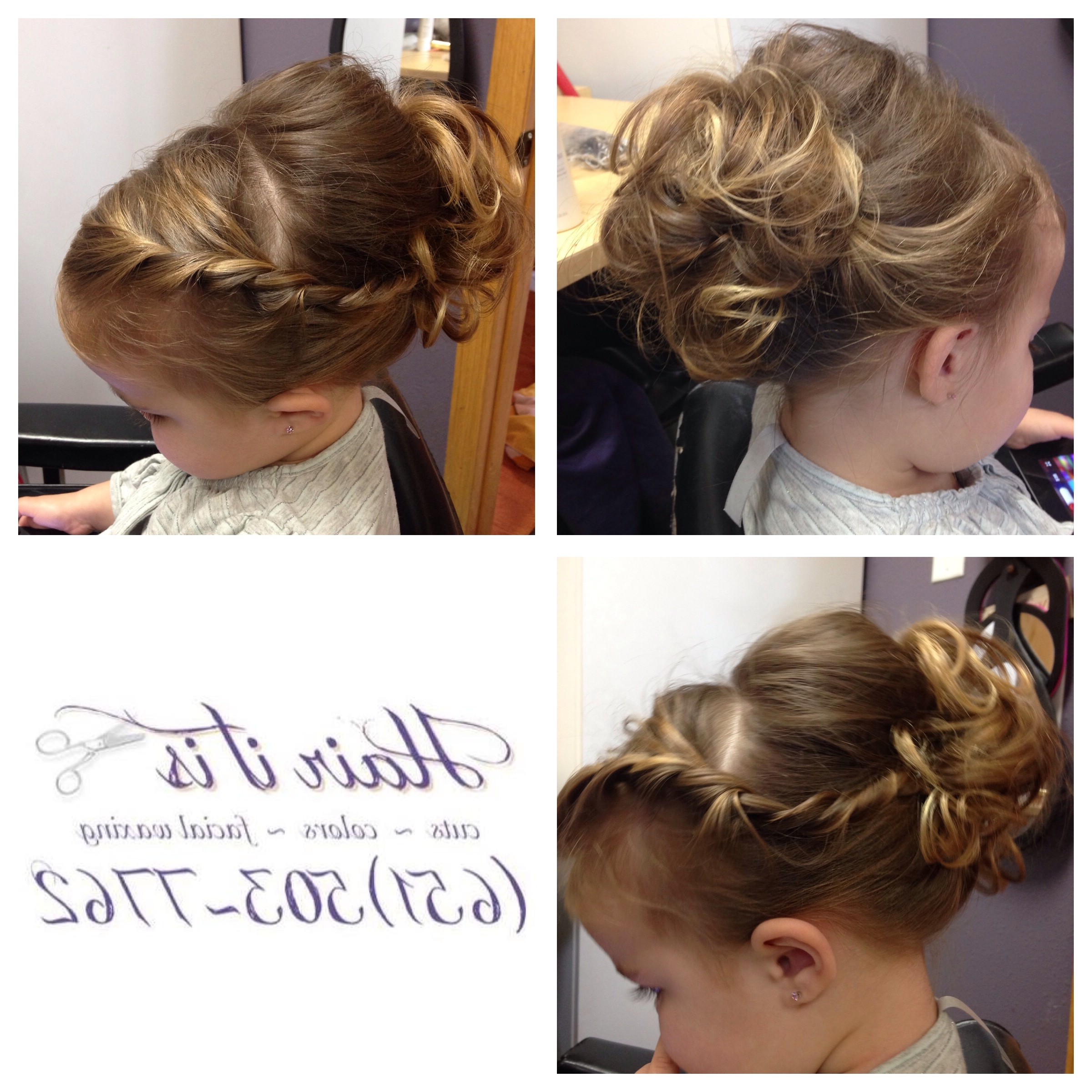 Side Twist Girls Flower Girl Updo | Hair It Is Hair Doos | Pinterest Pertaining To Little Girl Updo Hairstyles (View 11 of 15)