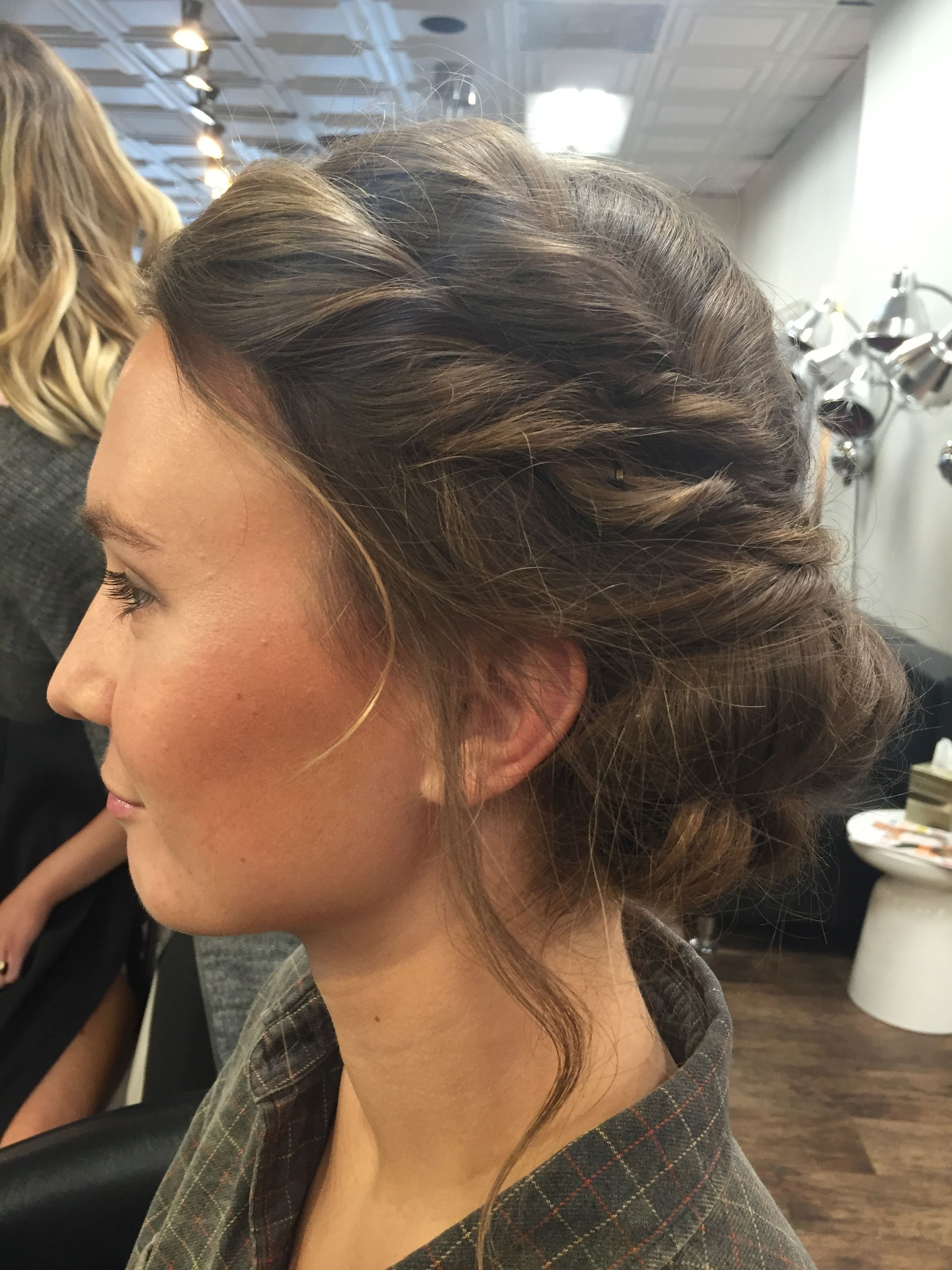 Side View: Loose Boho Updo | Bridesmaid Hair | Pinterest | Boho Updo Inside Boho Updos For Long Hair (View 15 of 15)