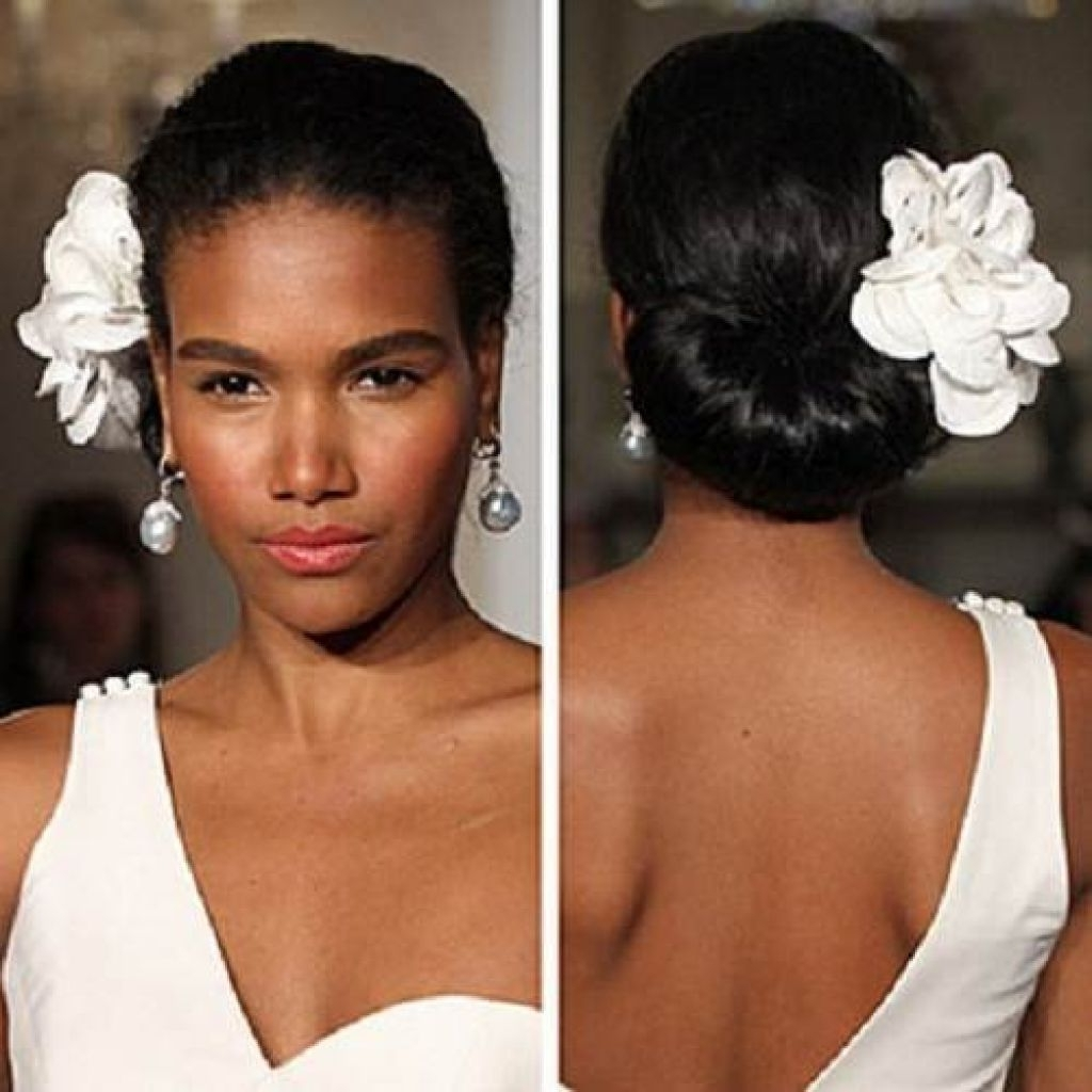 Simple Beach Wedding Hairstyles Inspiration – Popular Long Hairstyle Regarding African American Updo Wedding Hairstyles (View 11 of 15)