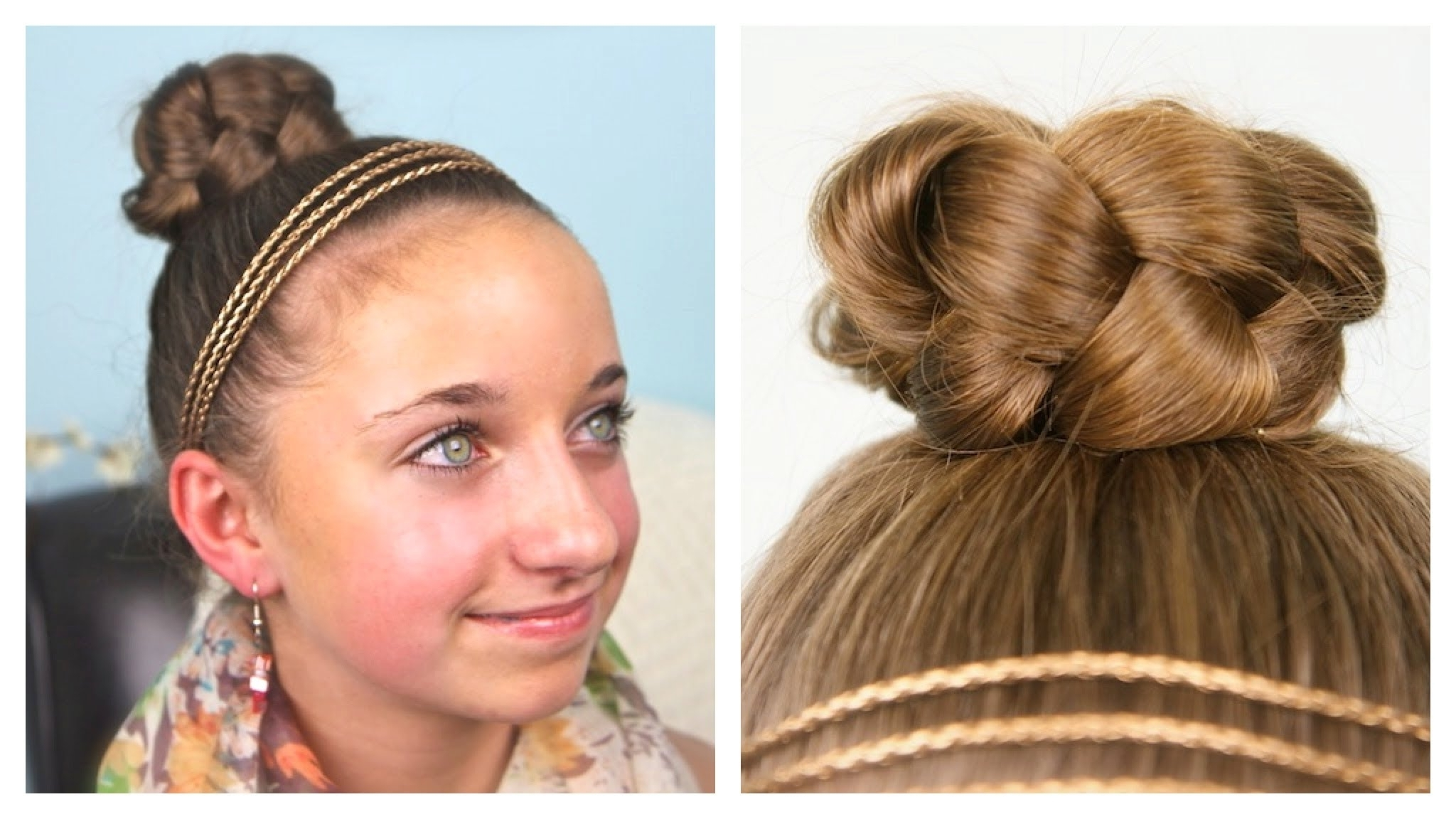 Simple Braided Bun | Updo | Cute Girls Hairstyles – Youtube In Easy Braided Updo Hairstyles For Long Hair (View 15 of 15)
