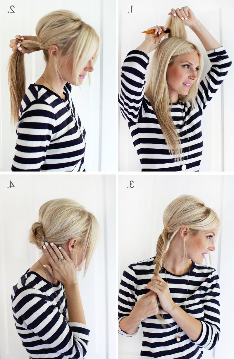 Simple Chignon Updo (A Beautiful Mess) | Chignon Updo, Chignons And Updo In Quick And Easy Updos For Long Thin Hair (View 15 of 15)