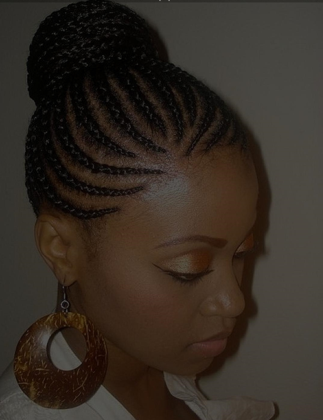 Photo Gallery of Elegant Cornrow Updo Hairstyles (Viewing 4 of 15 ...