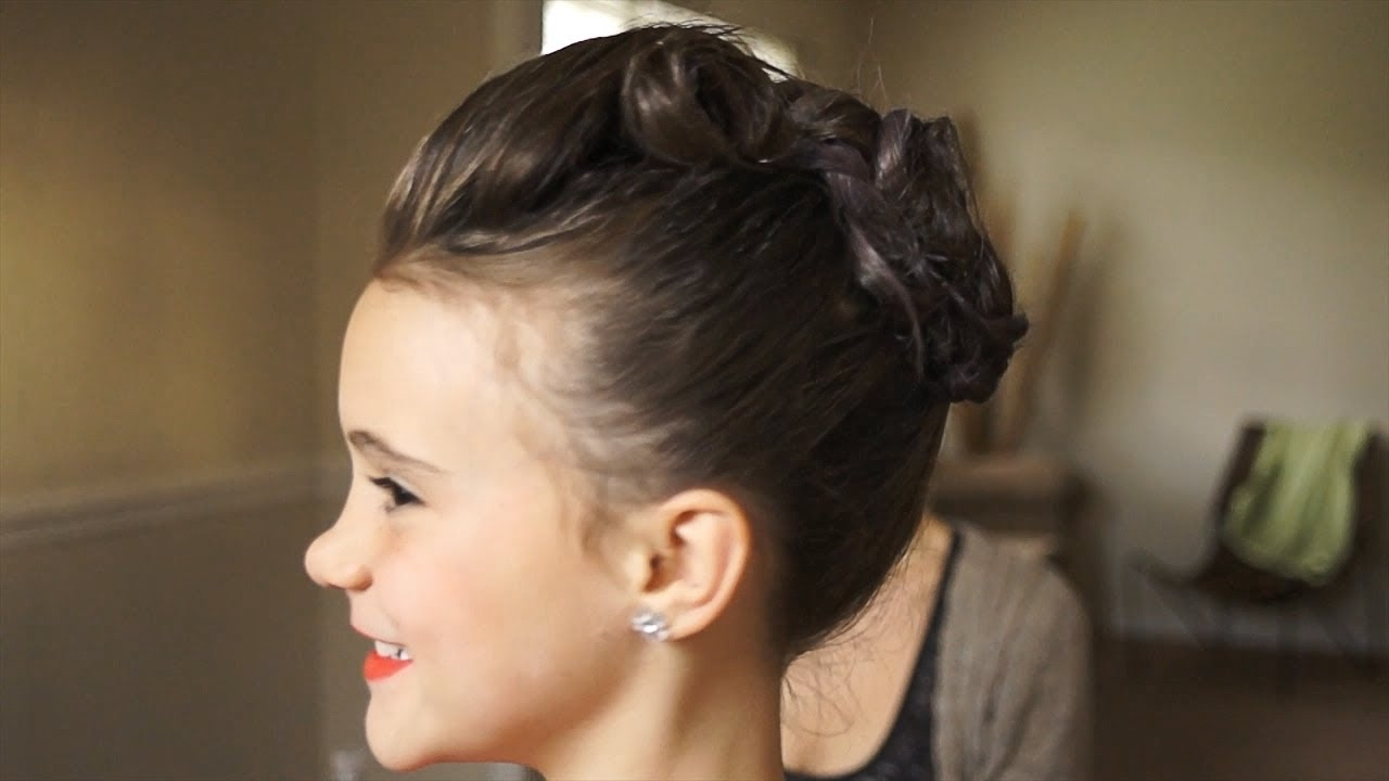 Simple Kid's Updo For Thick Hair – Youtube Regarding Children's Updo Hairstyles (View 12 of 15)
