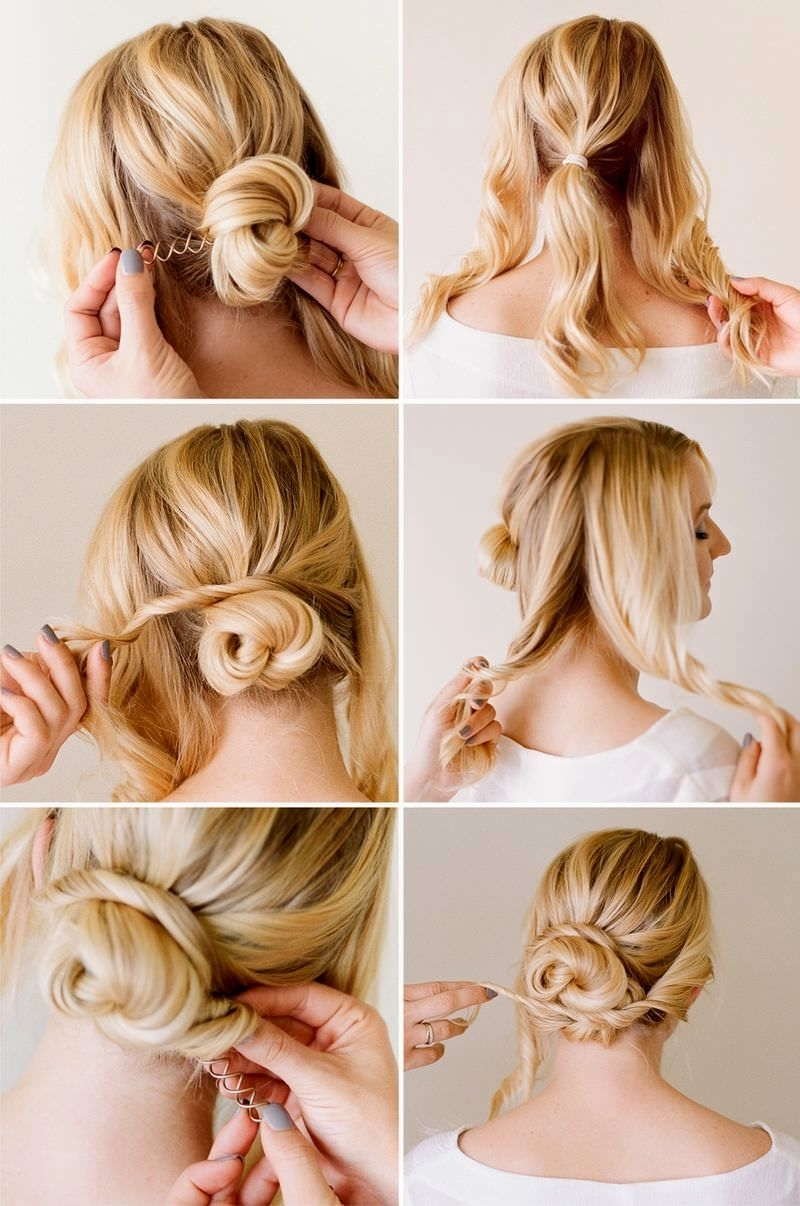 Simple Updo Hairstyles For Short Hair Easy To Do Hairstyles For For Cute Updo Hairstyles For Short Hair (View 15 of 15)
