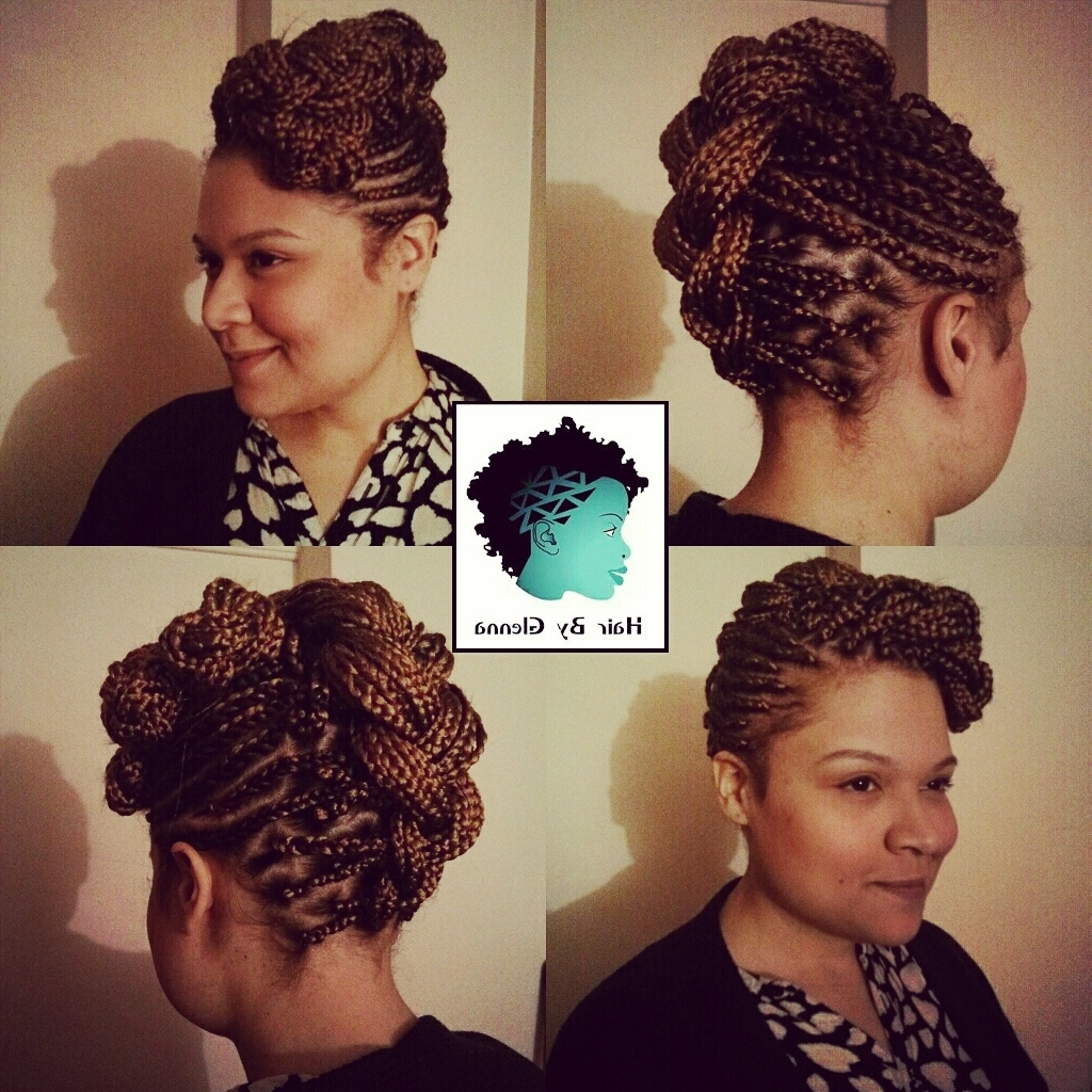 Single Braids, Box Braids, Updo, Cornrows, Cornrow Updo, Cornrow With Regard To Single Braid Updo Hairstyles (View 13 of 15)