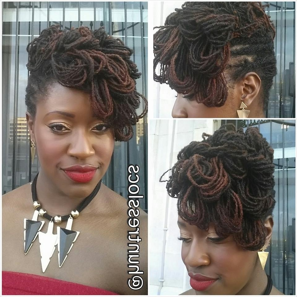 Sisterlock Updo – Google Search | Hair | Pinterest | Updo, Locs And Intended For Updo Locs Hairstyles (View 6 of 15)