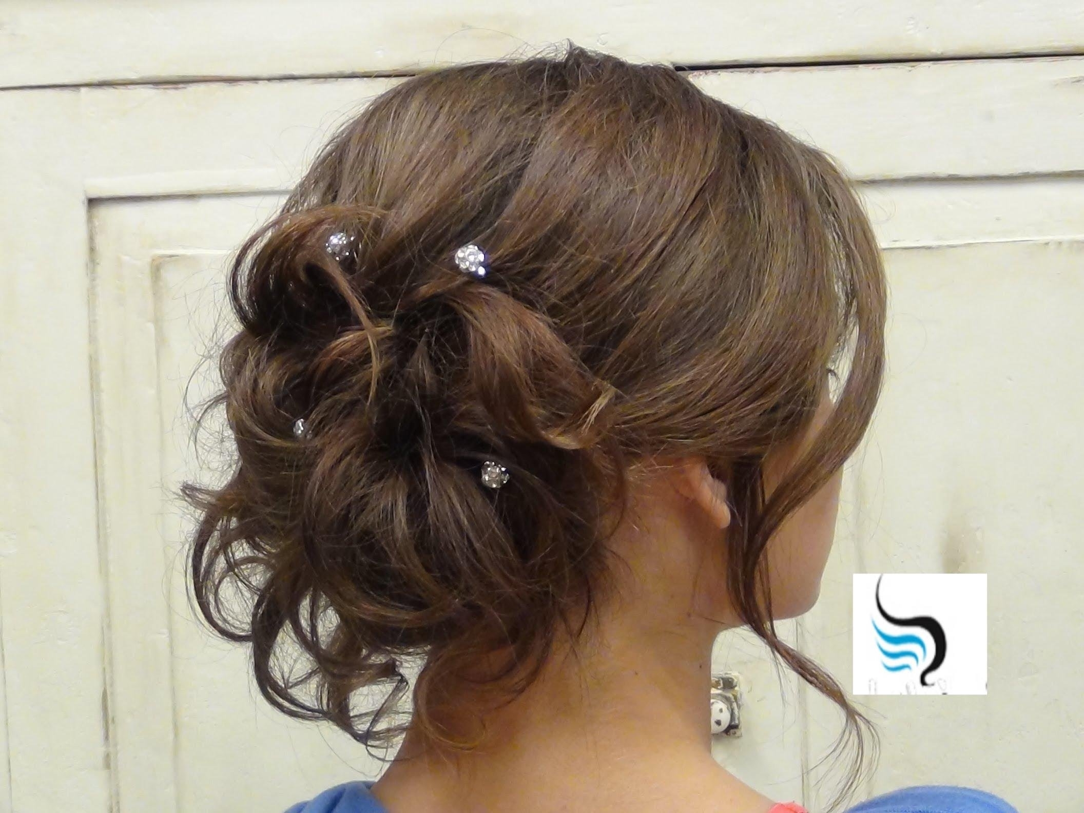Soft Curled Updo) For Long Hair Prom Or Wedding Hairstyles – Youtube Pertaining To Messy Updo Hairstyles For Prom (View 4 of 15)