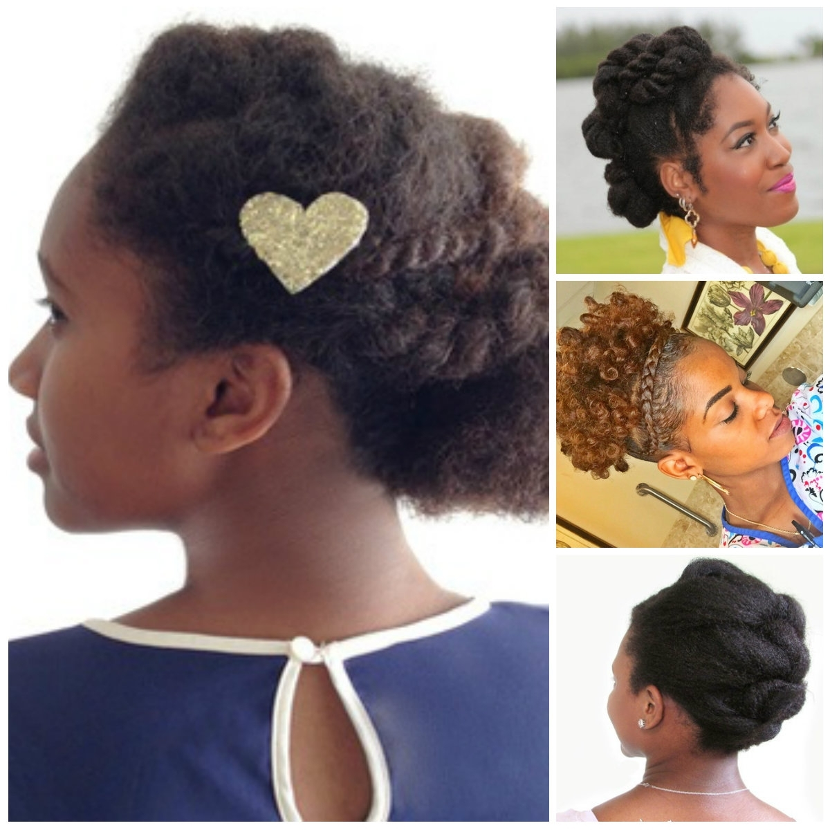 Soft Updos For Natural Hair | Hairstyles 2018 New Haircuts And Hair Pertaining To Black Natural Hair Updo Hairstyles (View 15 of 15)