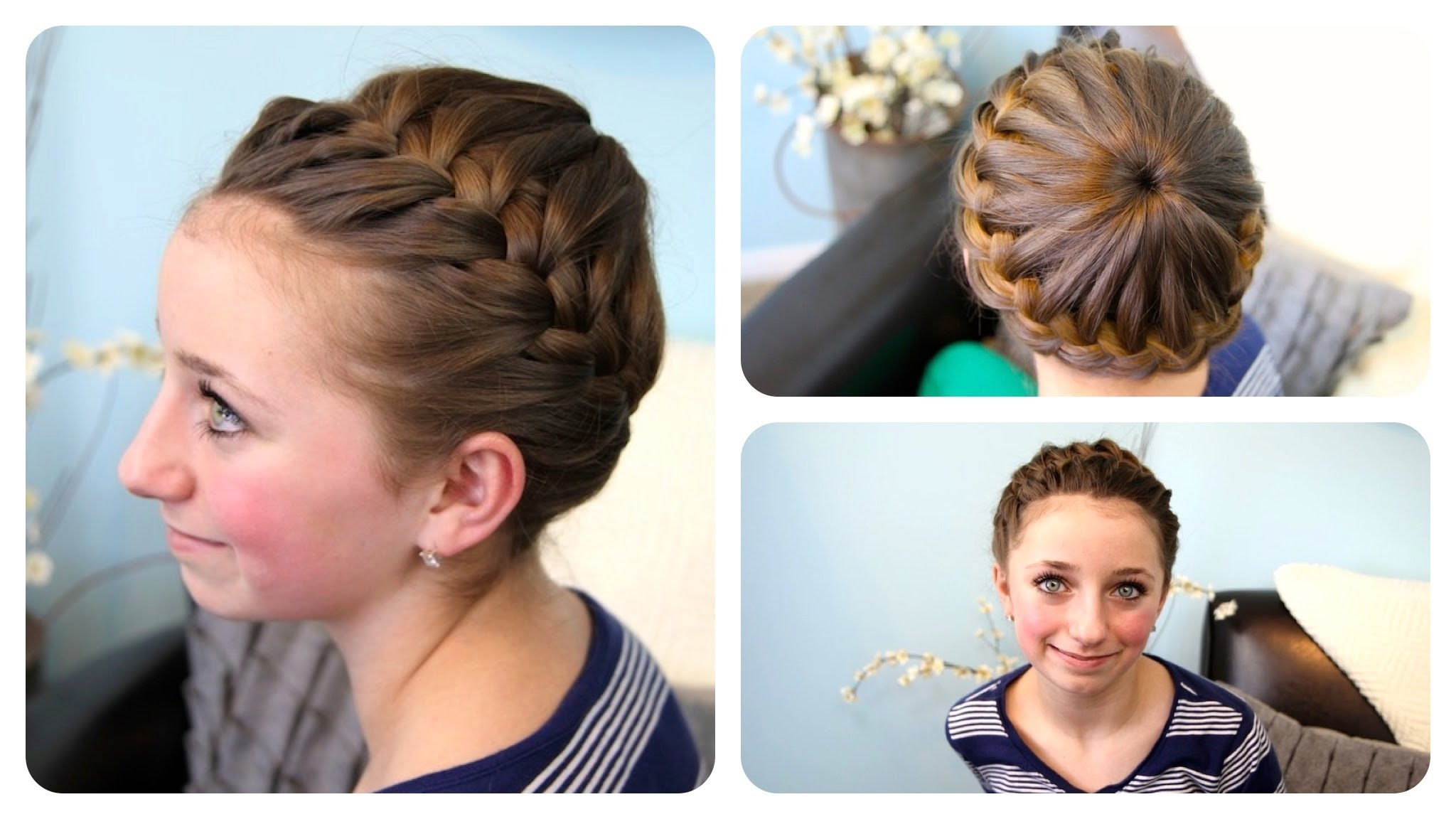 Starburst Crown Braid | Updo Hairstyles | Cute Girls Hairstyles Intended For Cute Girls Updo Hairstyles (View 8 of 15)