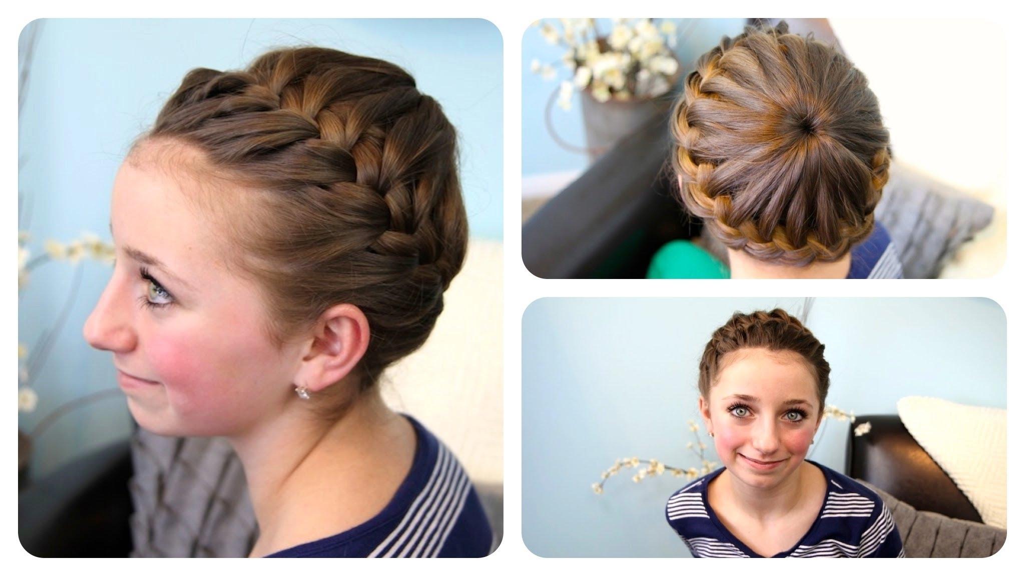 Starburst Crown Braid | Updo Hairstyles | Cute Girls Hairstyles With Regard To Updo Hairstyles For Teenager (View 11 of 15)