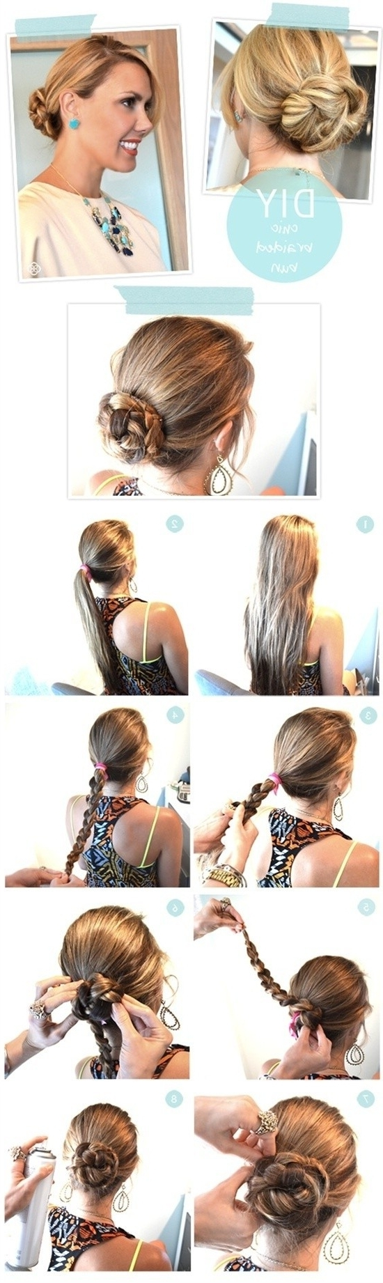 Stepstep Hairstyles For Long Hair: Long Hairstyles Ideas With Easy Diy Updos For Long Hair (View 14 of 15)