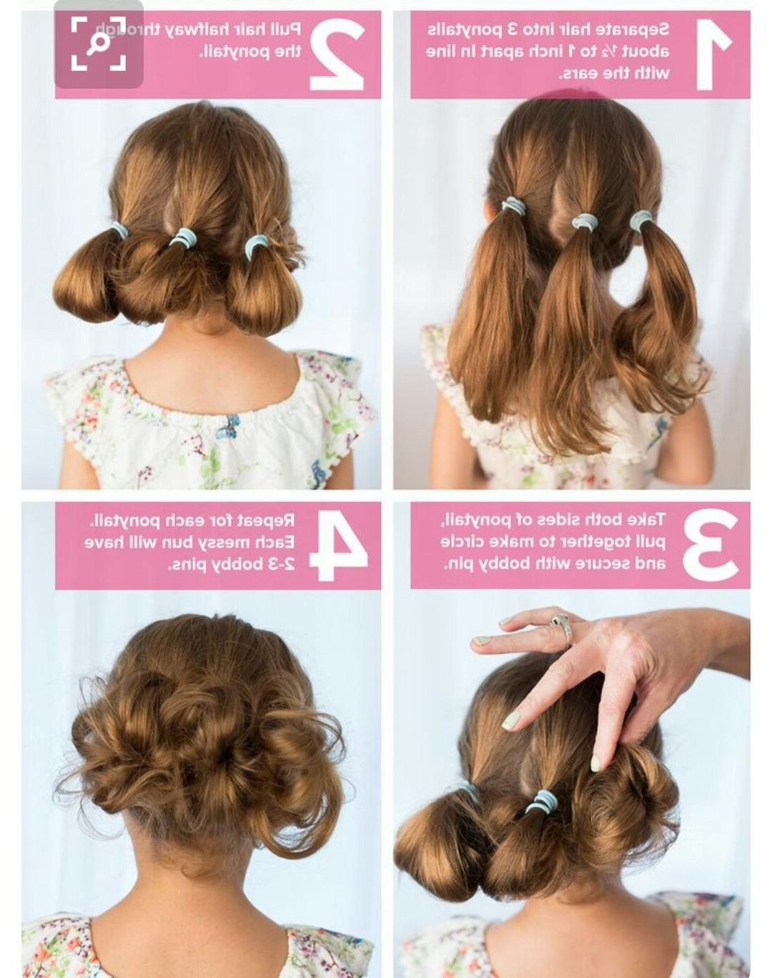 Strange Little Buns | Strange Flowers | Pinterest | Hair Style, Girl Throughout Children's Updo Hairstyles (View 13 of 15)