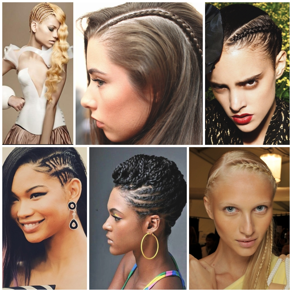 Stylenoted | Hair Braiding How To: Cornrow Accents For Scalp Braids Updo Hairstyles (View 14 of 15)