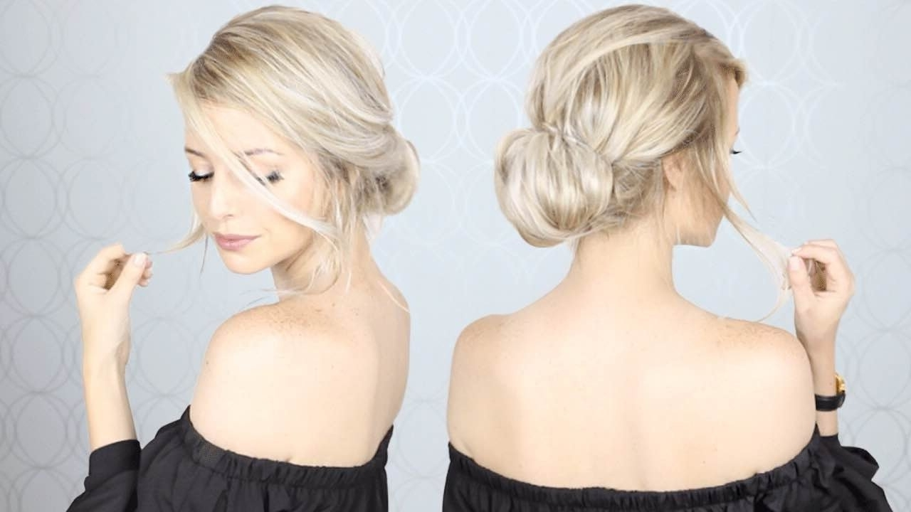 Super Simple Updo | Perfect For Long, Medium, And Short Hair – Youtube Intended For Soft Updos For Short Hair (View 11 of 15)