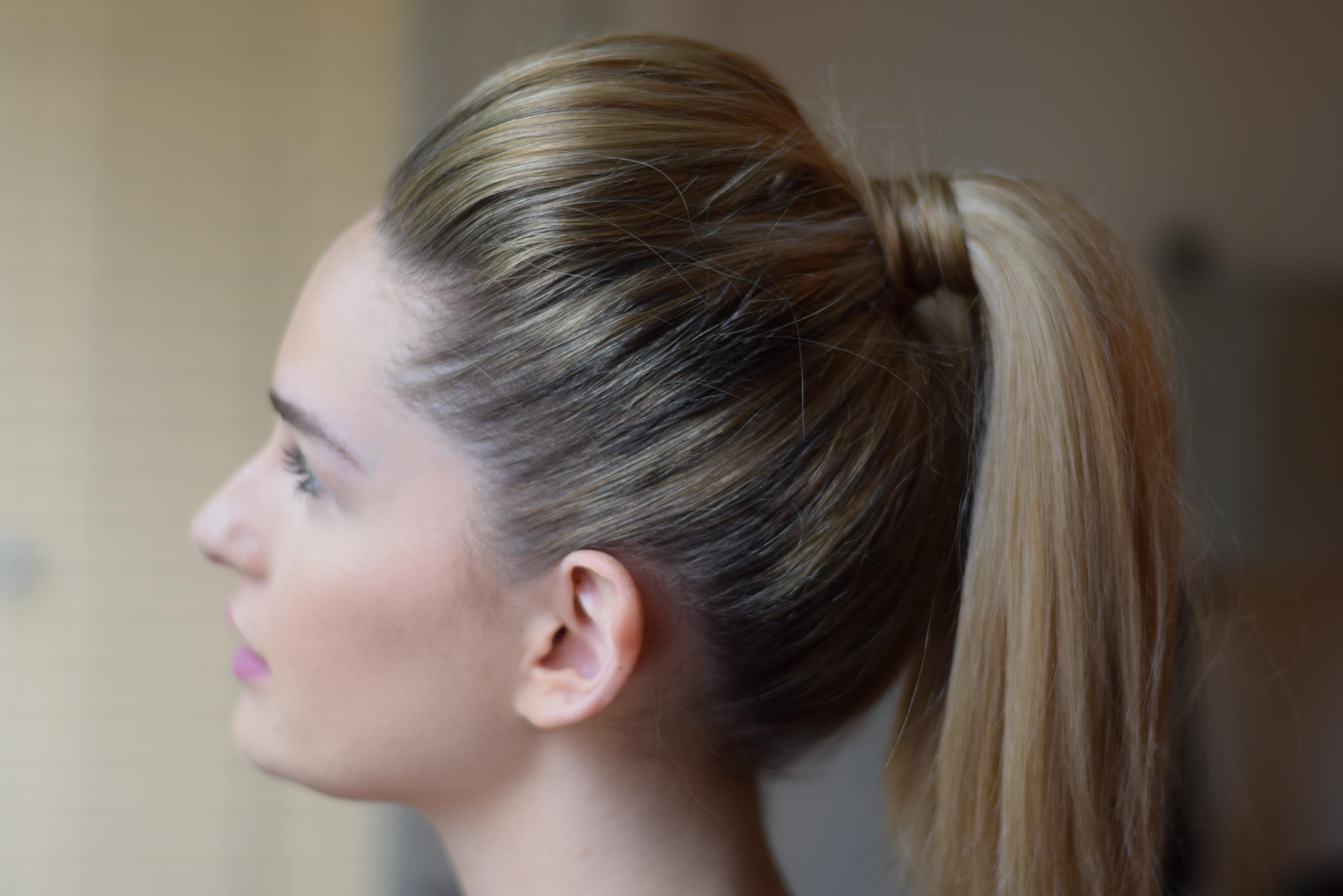 Teased Pony Tutorial – Lauren Jaclyn With Regard To Teased Updo Hairstyles (View 7 of 15)