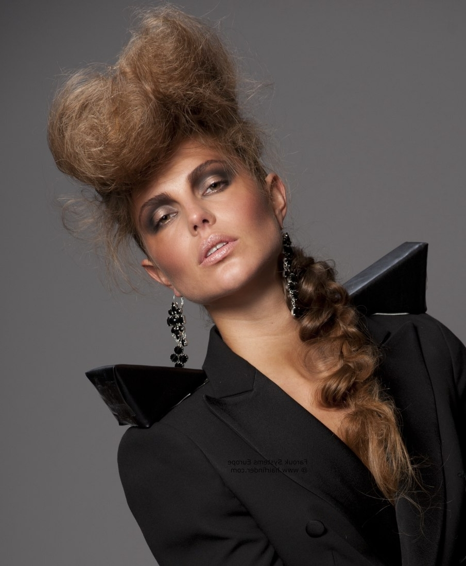 Teasing To Fluff Up Hair And A Long Ponytail With Regard To Teased Updo Hairstyles (View 7 of 15)