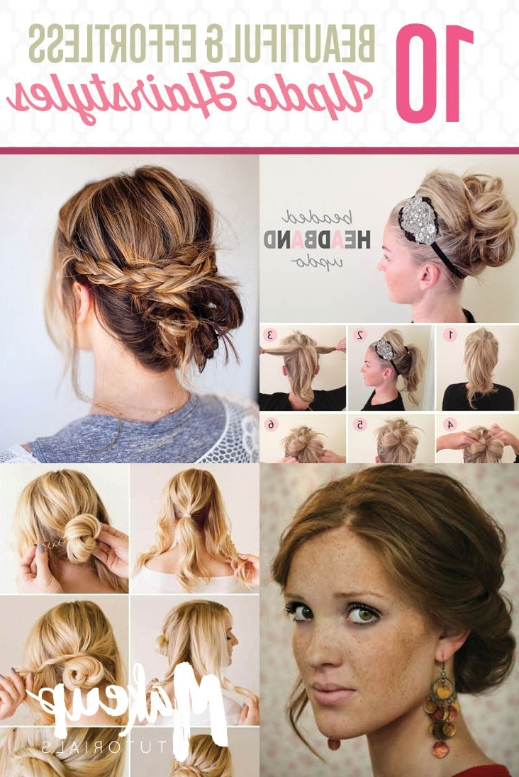 Ten Updo Hairstyle Tutorials For Medium Length Hair – Estheticnet Throughout Cute And Easy Updos For Medium Length Hair (View 2 of 15)