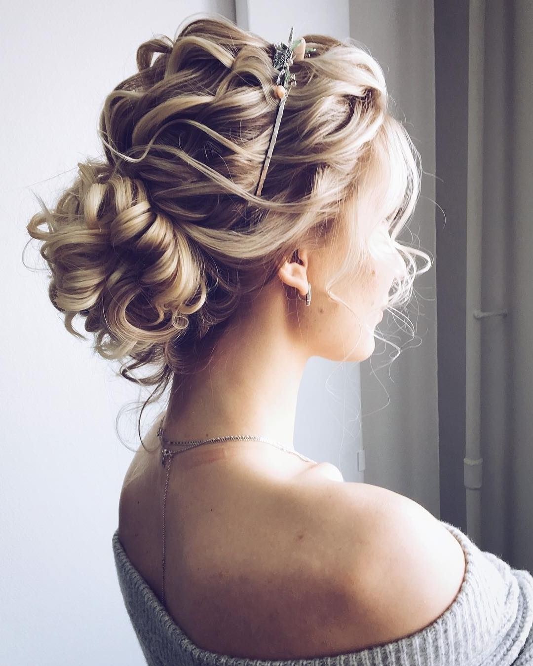 Photo Gallery Of Messy Updo Hairstyles For Wedding Viewing 9 Of 15