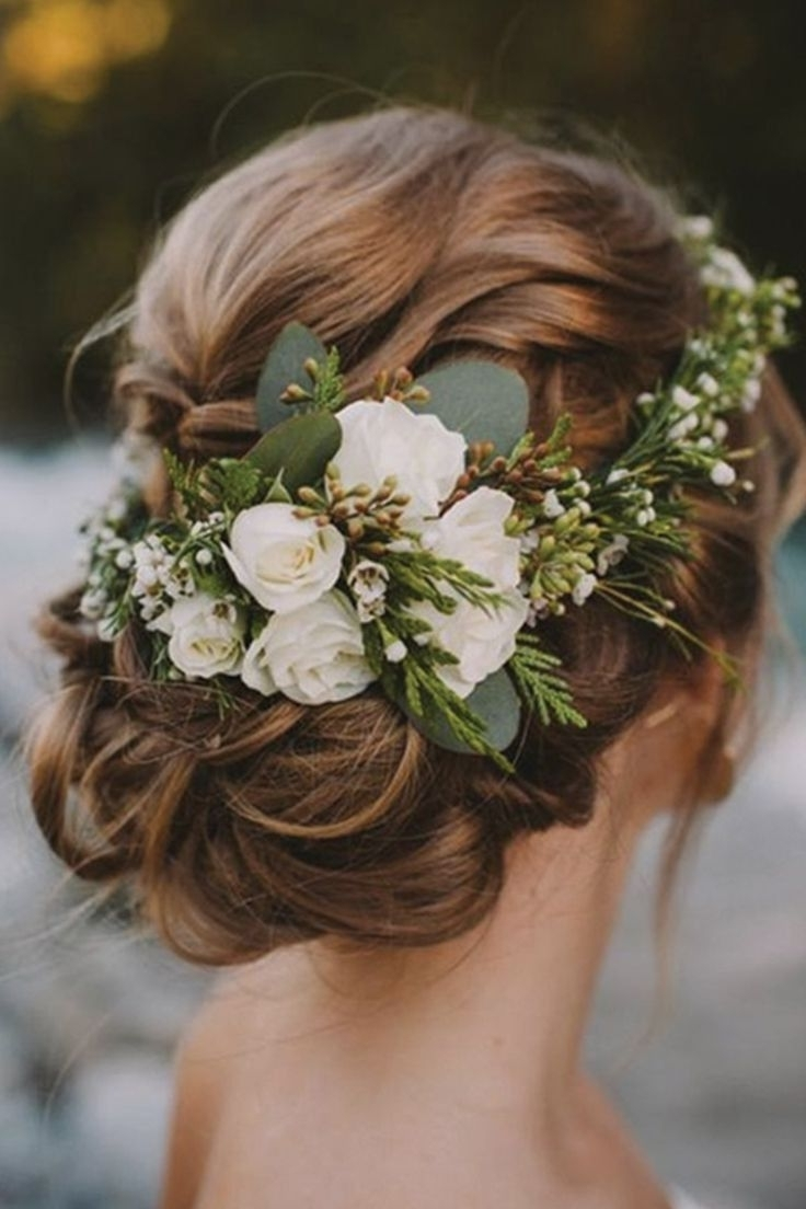 The 5 Biggest Trends In Wedding Hairstyles | Winter Wedding Hair Within Updo Hairstyles With Flowers (View 9 of 15)
