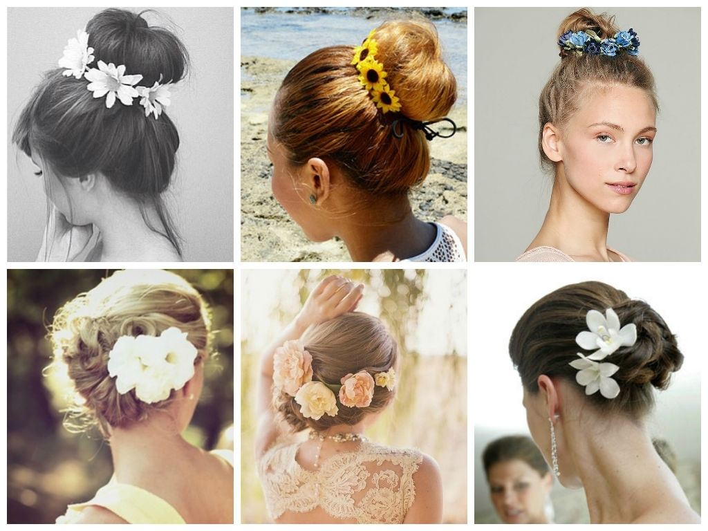 The Best Way To Wear Flowers In Your Hair – Hair World Magazine Pertaining To Updo Hairstyles With Flowers (View 10 of 15)