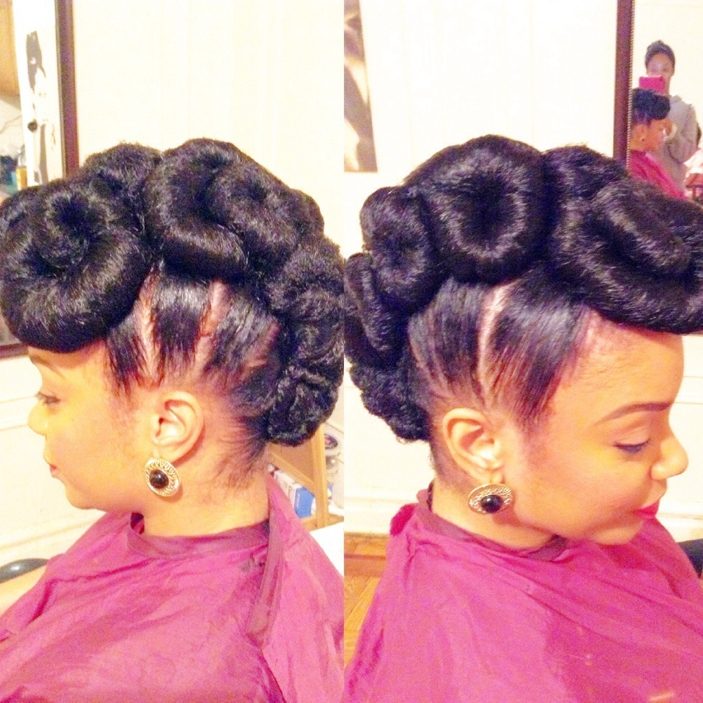 The Easiest Way To Making Natural Updo Hairstyles Revealed In Updo Hairstyles With Weave (View 9 of 15)
