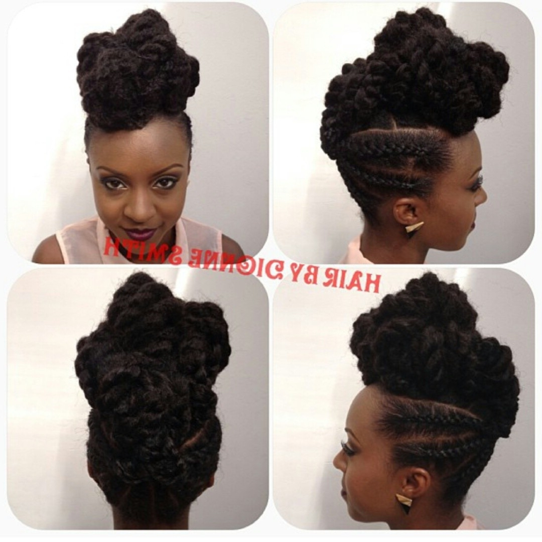 The Wedding Do: Cornrows X Marley Twists – Tobnatural In Elegant Cornrow Updo Hairstyles (View 5 of 15)