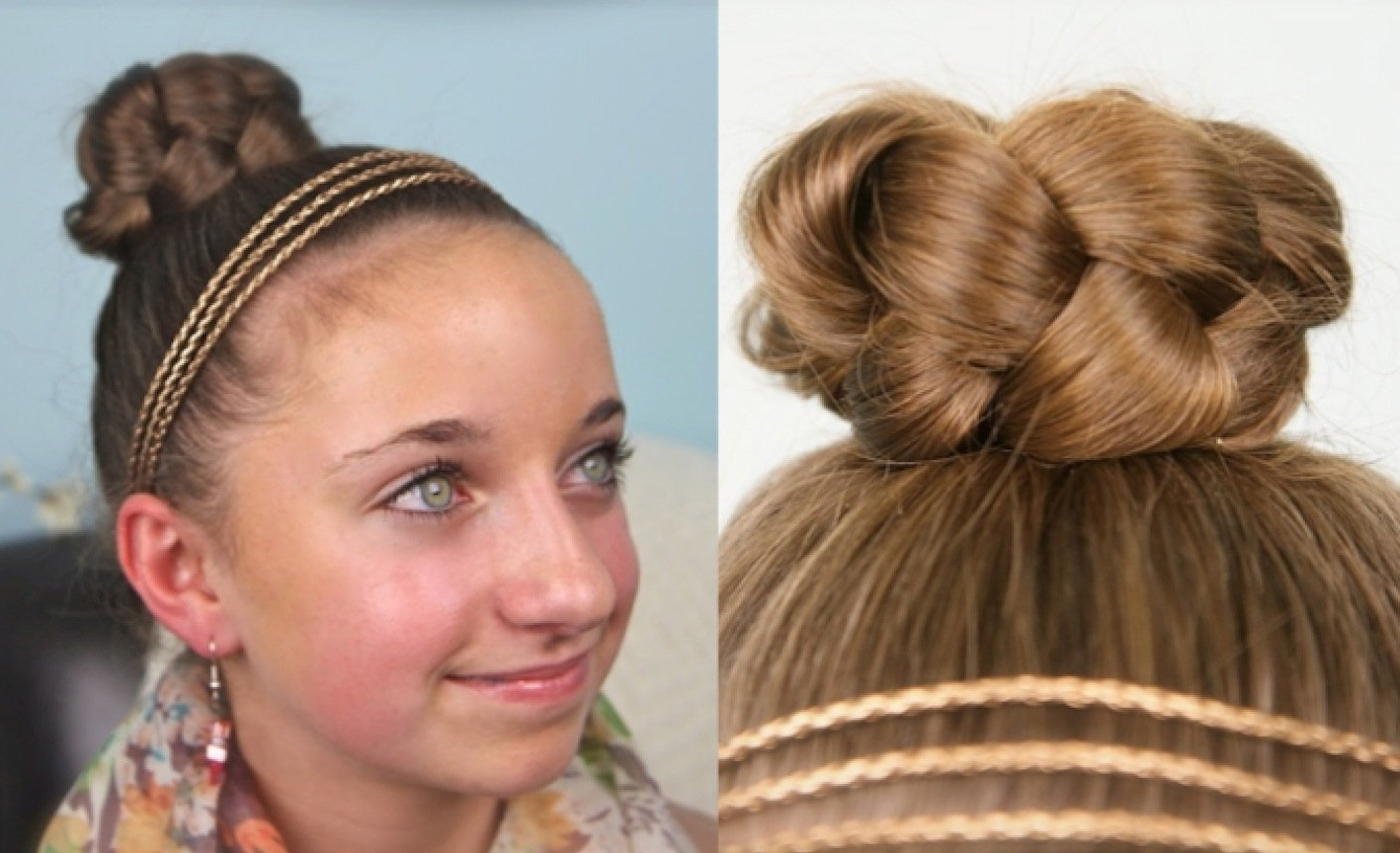 This Simple Braided Bun Cute Quick Style Designed For Young | Medium With Regard To Easy Braided Updos For Medium Hair (View 11 of 15)