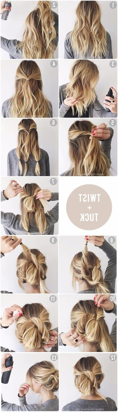 Top 10 Messy Updo Tutorials For Different Hair Lengths Pertaining To Easy To Do Updo Hairstyles For Long Hair (View 13 of 15)