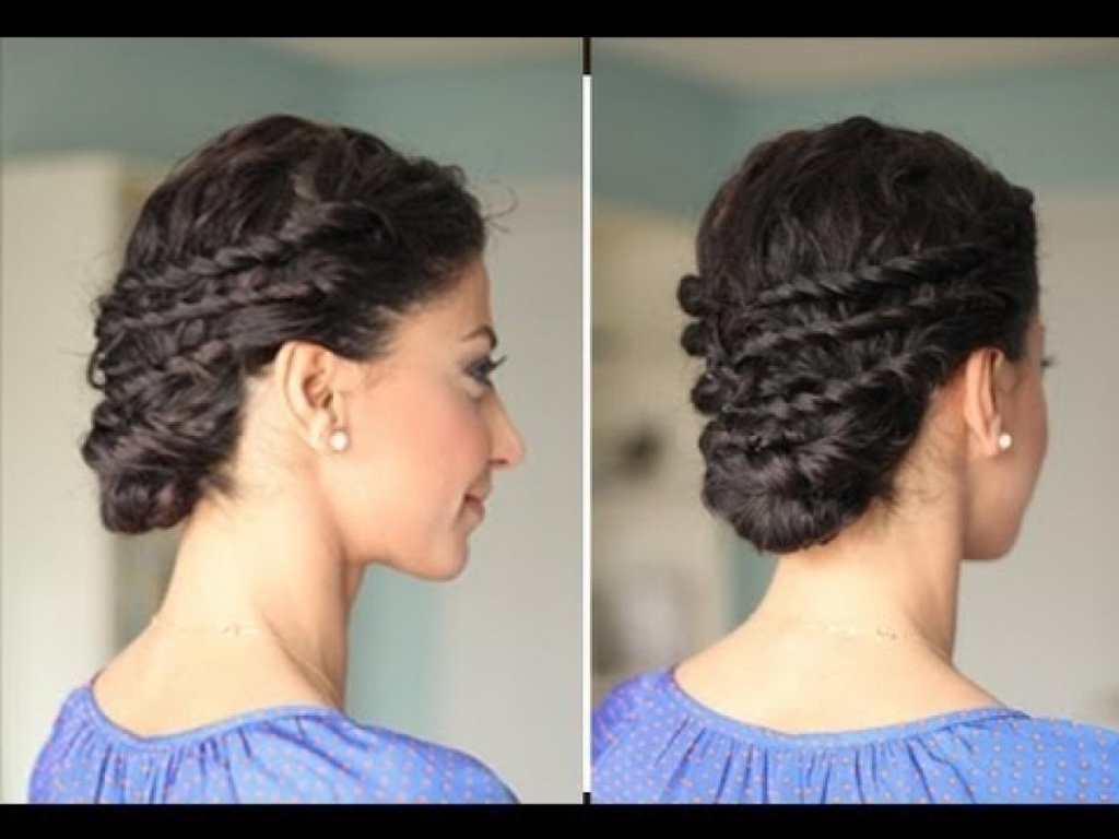 Top 5 Curly Prom Hairstyles | Glam & Gowns Blog Within Naturally Curly Hair Updo Hairstyles (View 12 of 15)