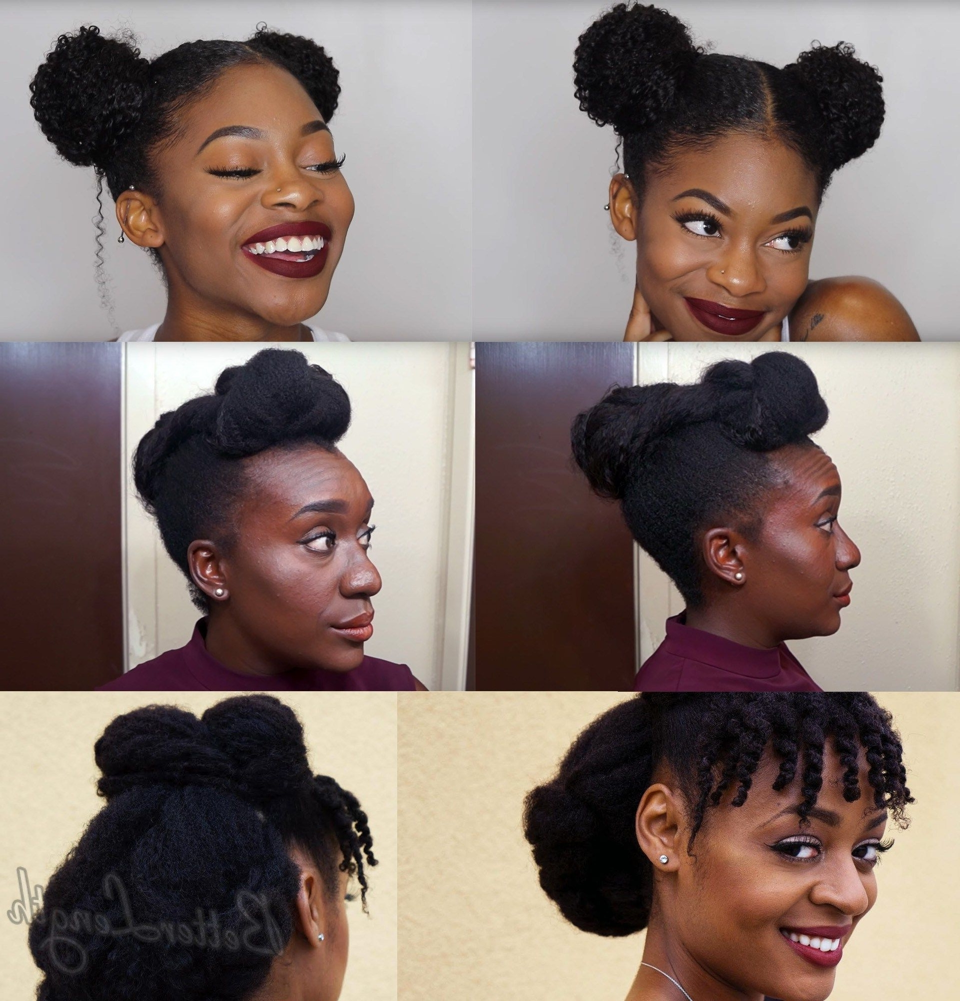 Top 6 Quick & Easy Natural Hair Updos | Natural Updo Hairstyles In Quick Updo Hairstyles For Natural Black Hair (View 11 of 15)