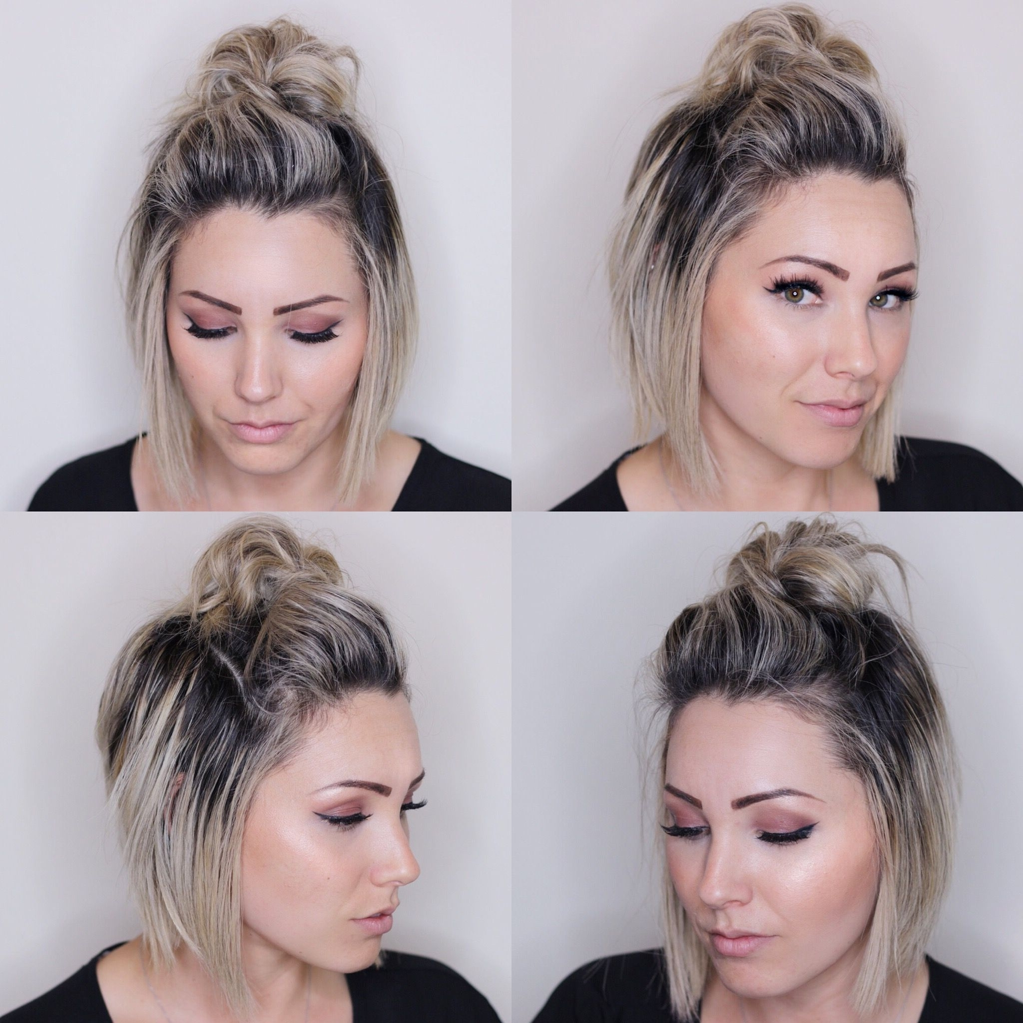 Top Knot For Short Hair. Short Hairstyle (View 3 of 15)