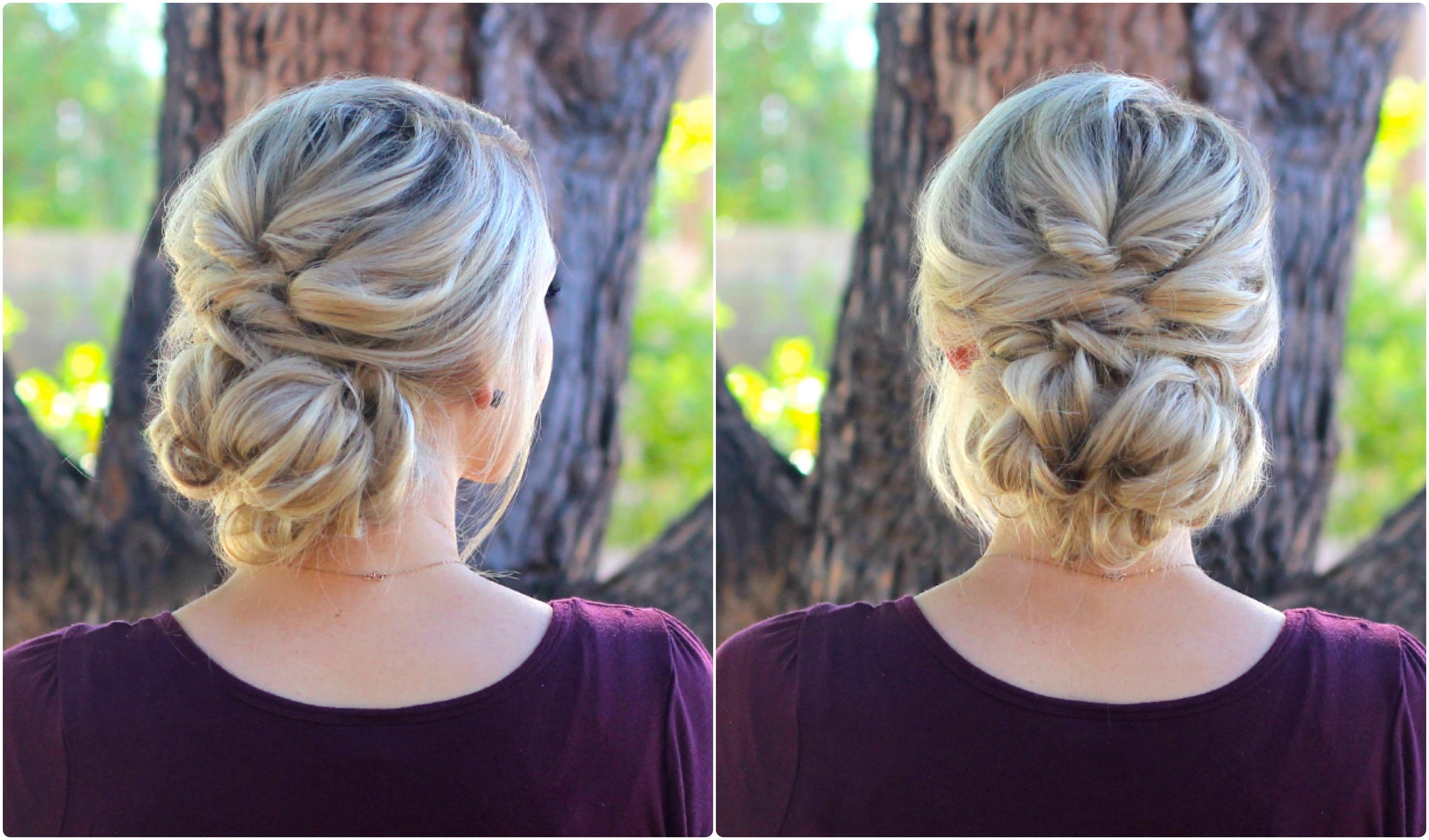 Topsy Tail Bun | Updo | Cute Girls Hairstyles – Youtube Pertaining To Cute Bun Updo Hairstyles (View 15 of 15)