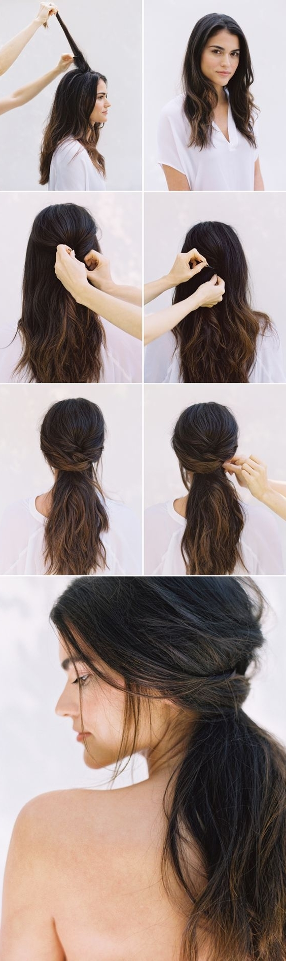Trendy Low Bun Updo Hairstyles Tutorials Easy Cute Impressive For With Easy Updos For Thick Medium Length Hair (View 10 of 15)