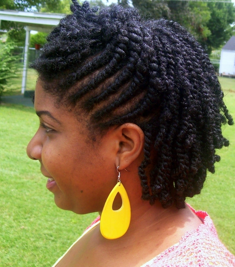 Twist Updo Hairstyles For Natural Hair Two Strand Twists Braids With In Two Strand Twist Updo Hairstyles (View 6 of 16)