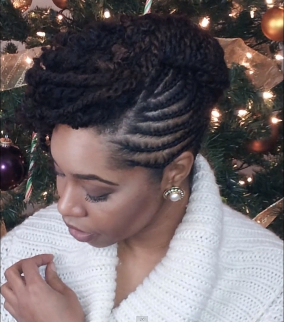 Twist Updo Hairstyles Natural Hair 1000 Images About Fly Natural Pertaining To Twisted Updo Natural Hairstyles (View 8 of 15)