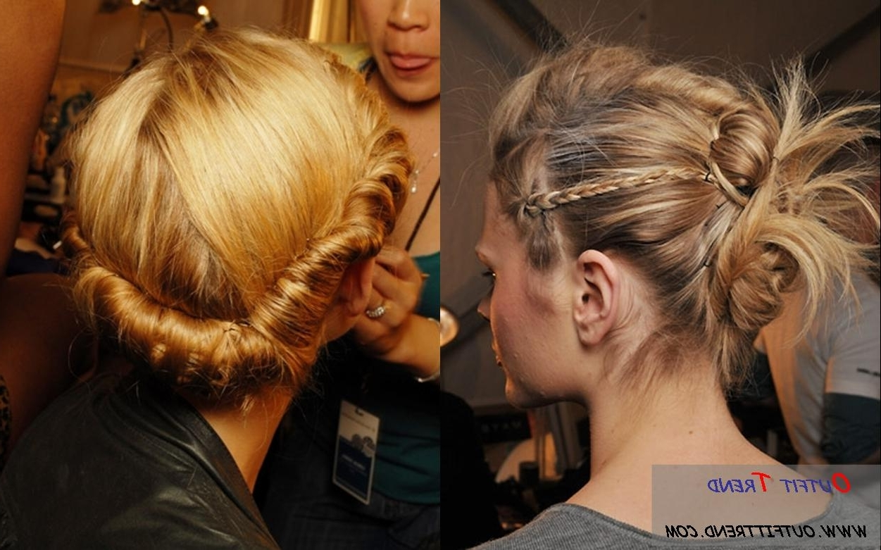 Twisted Updo Hairstyle Regarding Twisted Updo Hairstyles (View 13 of 15)