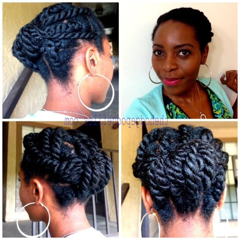 Two Strand Twist Updo Hairstyles Two Strand Twist Updo Hairstyles Inside Two Strand Twist Updo Hairstyles (View 13 of 16)